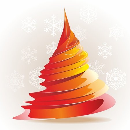 yule: Christmas template with swirly tree