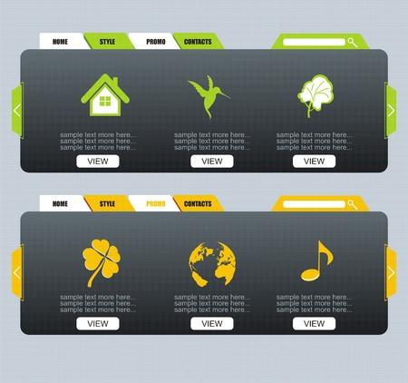 Colorful Web design Menu template  Vector