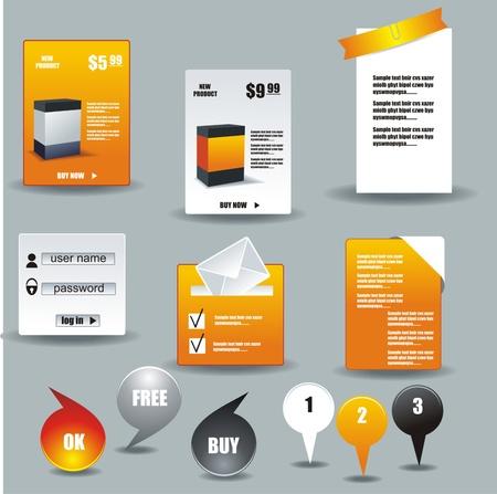 sidebar: Collection Of Website Elements Illustration