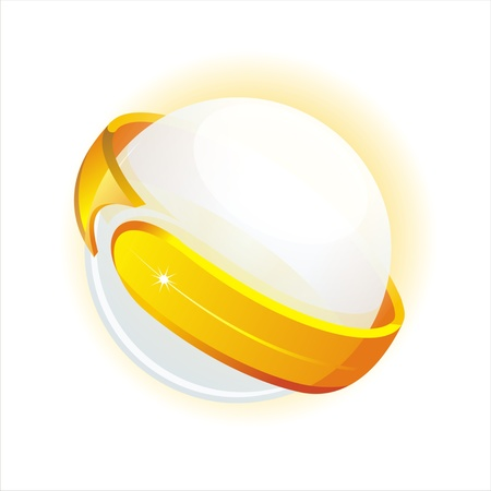 curve arrow: shiny sphere and arrow