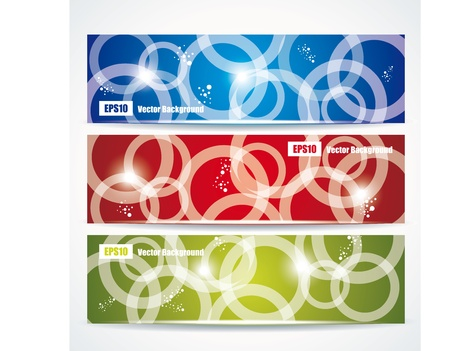 abstract colorful header set vector design  Vector