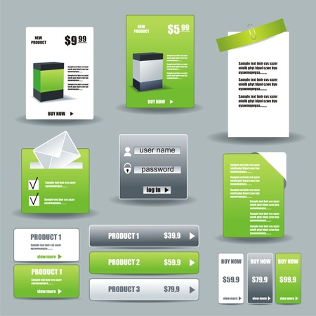 new product: Collection Of Website Elements Illustration