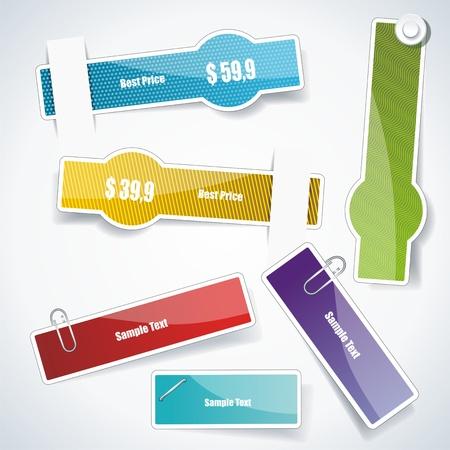 Discount labels. Vector. Stock Vector - 10915369