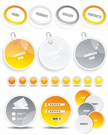 Stickers for web page  Vector