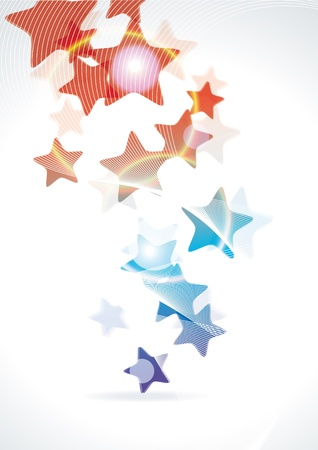 rainbow stripe: Abstract vector background with stars