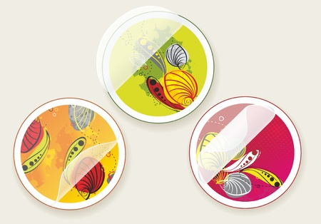 autumn offers stickers set Stock Vector - 11087686