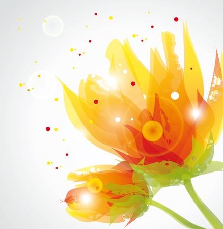 flores color pastel: flores transparentes Vectores