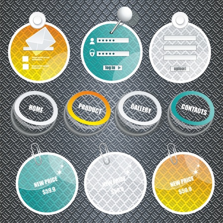 web frames on techno background Vector