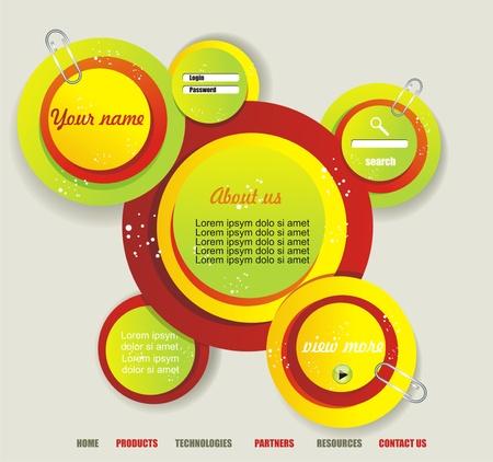 chatbox: Website template Illustration