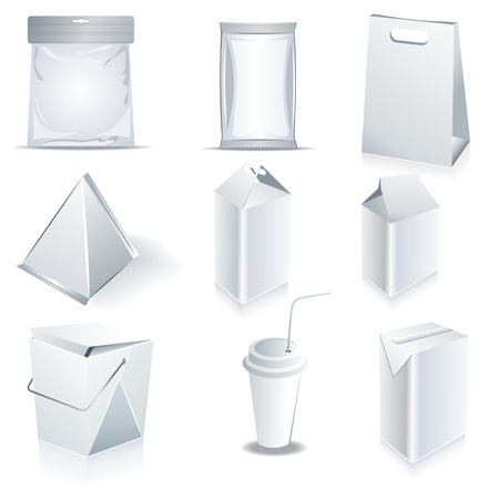 packaging design: White package templates