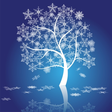 snow tree vector  Vector