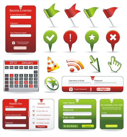 Set of web forms Stock Vector - 11241930