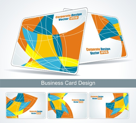 business card set Stock Vector - 11349631