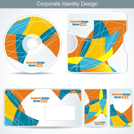 Editable corporate Identity template Stock Vector - 11349633