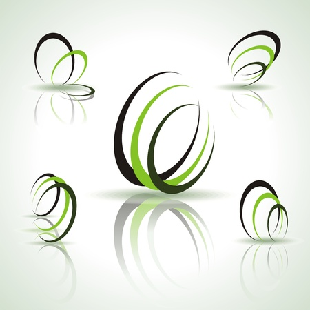 office product: Set of different abstract symbols for design Illustration