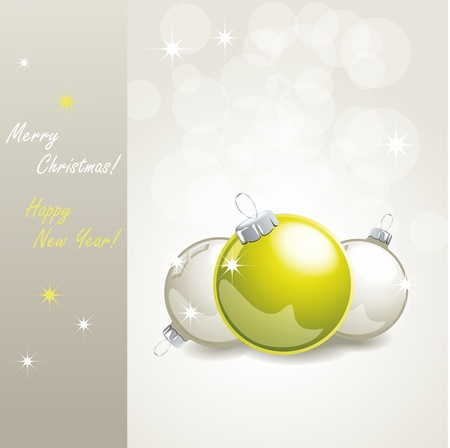 elegant christmas background with baubles Vector