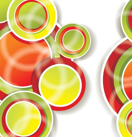 ornamental background: abstract background with color circles  Illustration