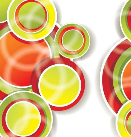 dibujo vintage: fondo abstracto con c�rculos de colores