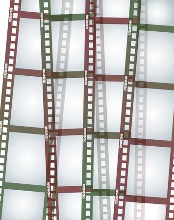 handled: Old negative film strip
