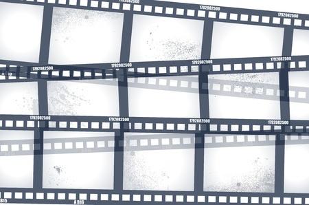 hollywood film: Old negative film strip  Illustration