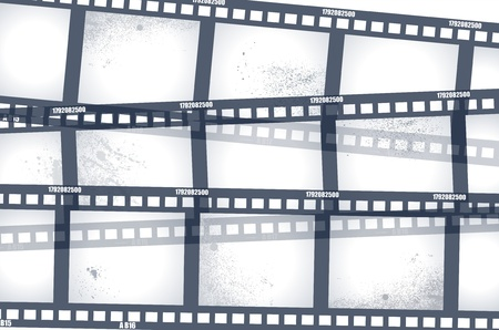 negative spaces: Old negative film strip  Illustration