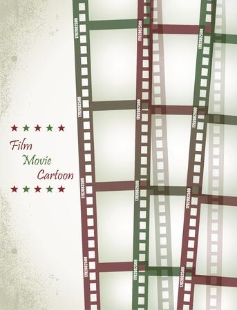 plate camera: Old negative film strip  Illustration