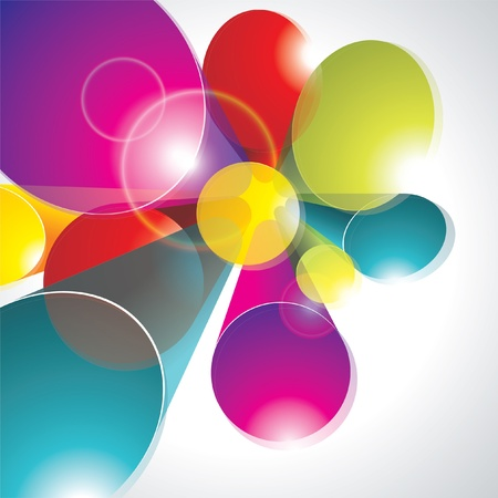 Abstract 3d technology circles vector backgound. Eps 10.  Vector