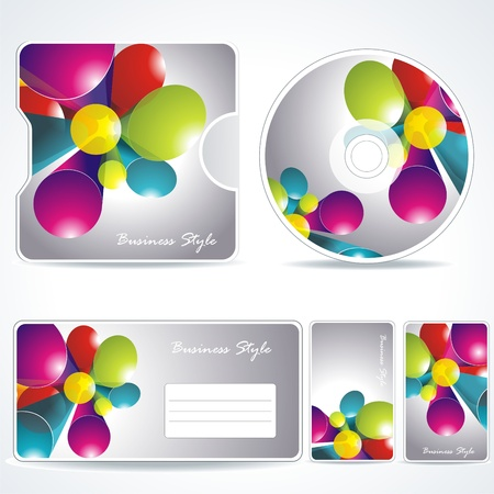 card folder: Identidad corporativa de plantilla editable Vectores