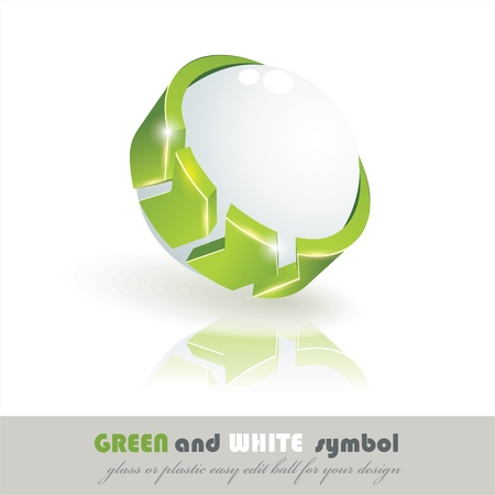 Sphere 3d design. eco symbol.  Vector