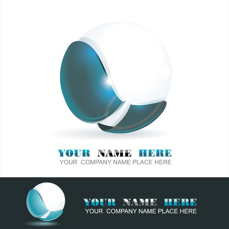 Sphere 3d design. Vector