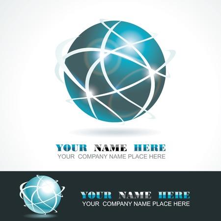 Esfera 3d diseño.