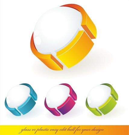 3d circle: Sphere 3d design. Vector  symbol.