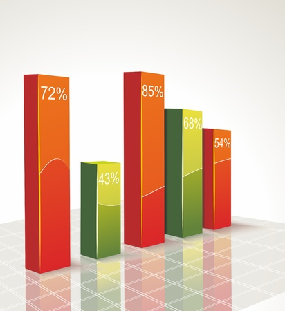 financial report: Business graph Illustration