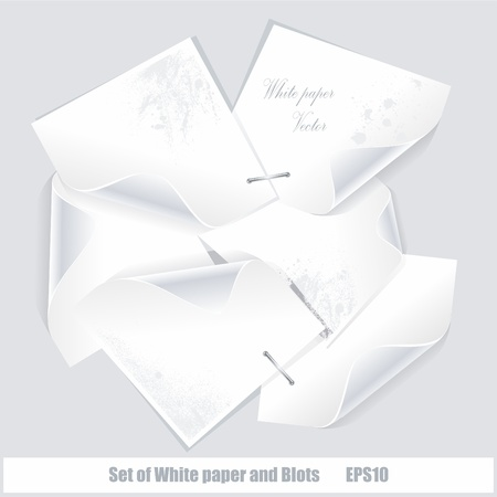 Set vector white stickers and blots Stock Vector - 12250586
