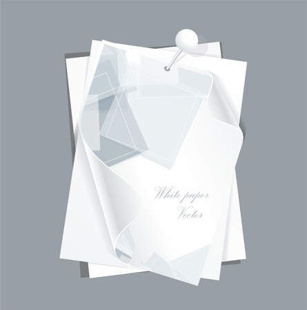 adhesive: collection of various white note papers Illustration
