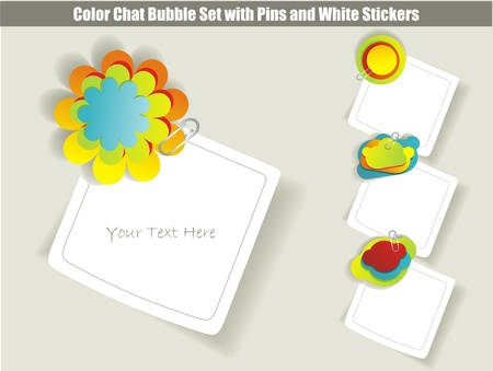 collection of chat stickers Stock Vector - 12250584