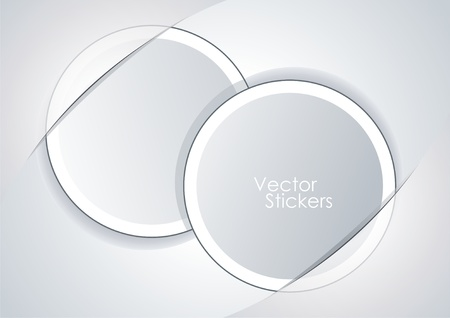 Set vector white stickers Stock Vector - 12250599