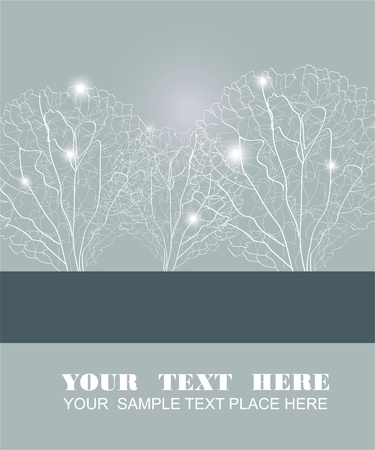 Abstract fluffy white trees Vector