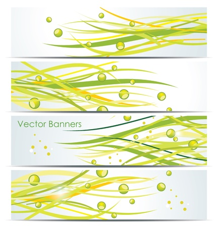 Green lines. Abstract vector background  Vector