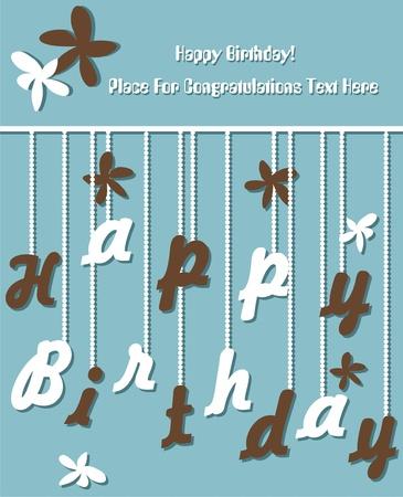 vejez feliz: Tarjeta de cumpleaños divertida Vectores