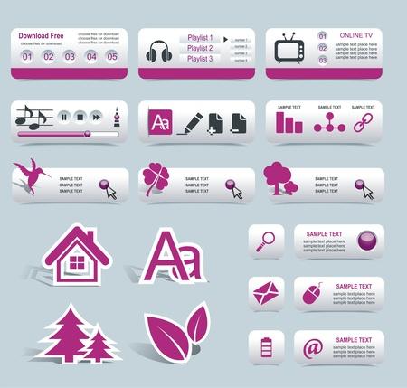 earbud: Dise�o Web marco de vectores