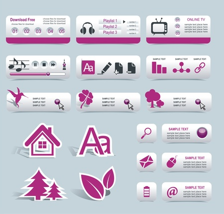 set form: Web Design Frame Vector
