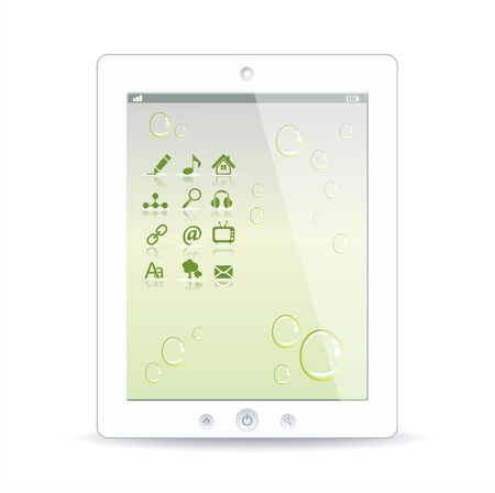 White tablet pc on white background Stock Vector - 12944478
