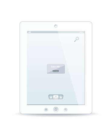 White tablet pc on white background Stock Vector - 12944465