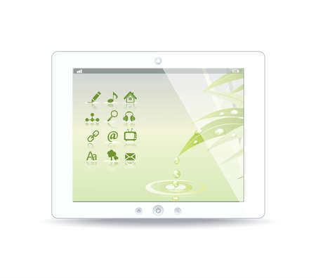 White tablet pc on white background Stock Vector - 12944472