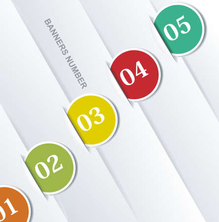 creative design: Design template numbered banners.  Illustration