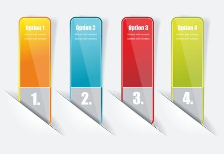 numbered: Modello di progettazione numerati banner.