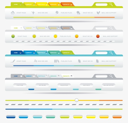pagination: Web Design Frame Illustration