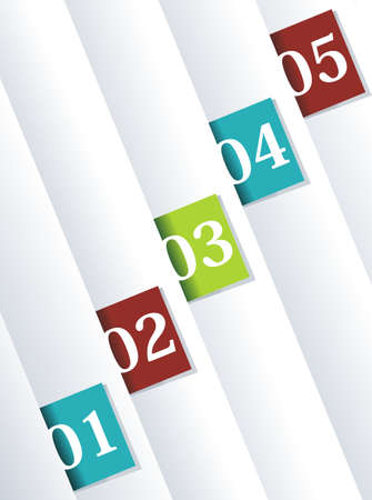 Design template numbered banners.  Vector