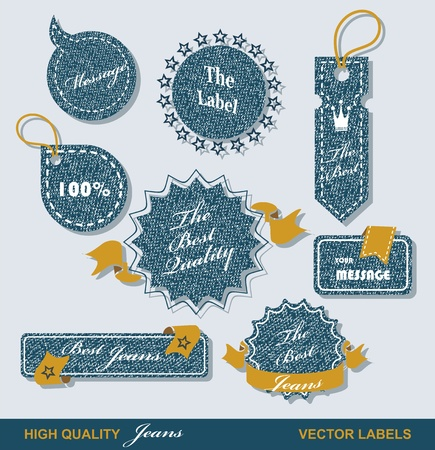 zigzagger: Vintage Styled Premium Quality  Labels and Ribbons collection with black grungy design   Illustration